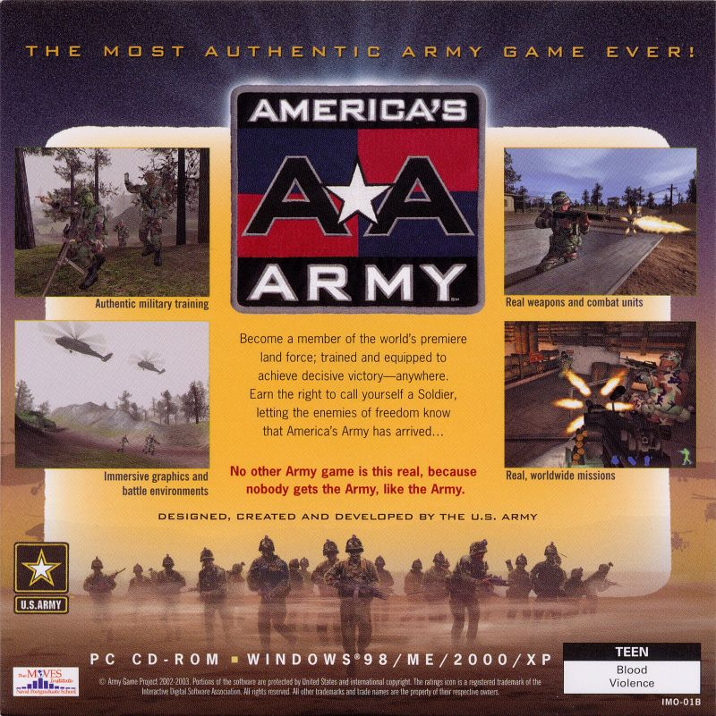 America's Army: Operations (2002) Windows box cover art