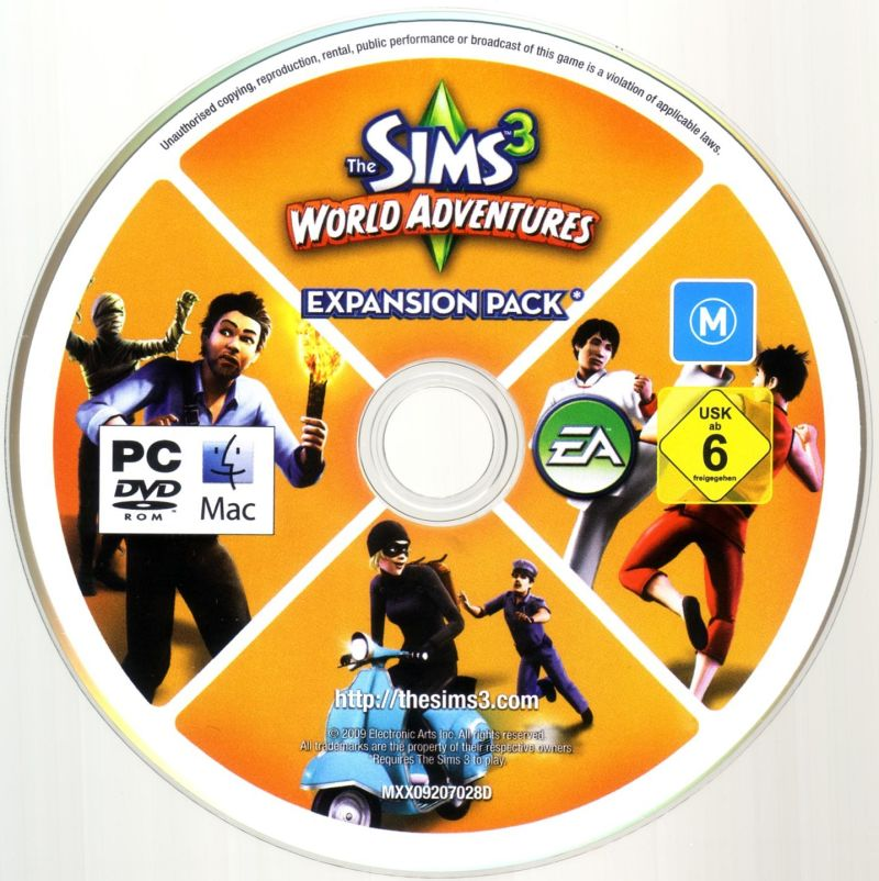 The Sims 3: World Adventures Macintosh Media