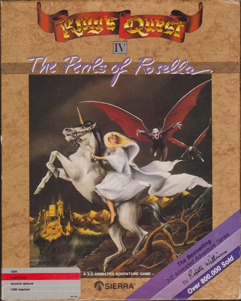 King's Quest IV: The Perils of Rosella Apple II Front Cover