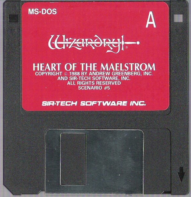 Wizardry Trilogy 2 DOS Media Wizardry V: Heart of the Maelstrom