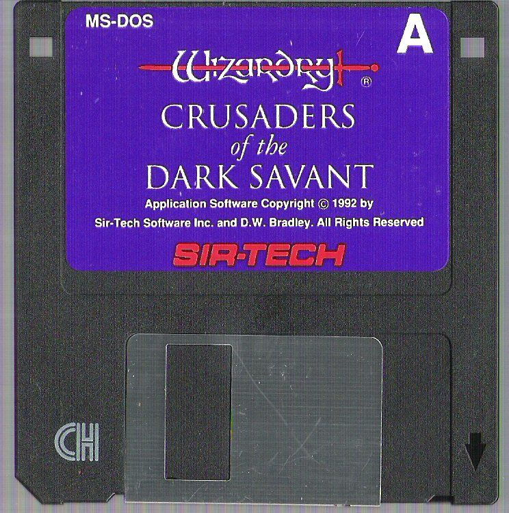 Wizardry Trilogy 2 DOS Media Crusaders of the Dark Savant 1/2