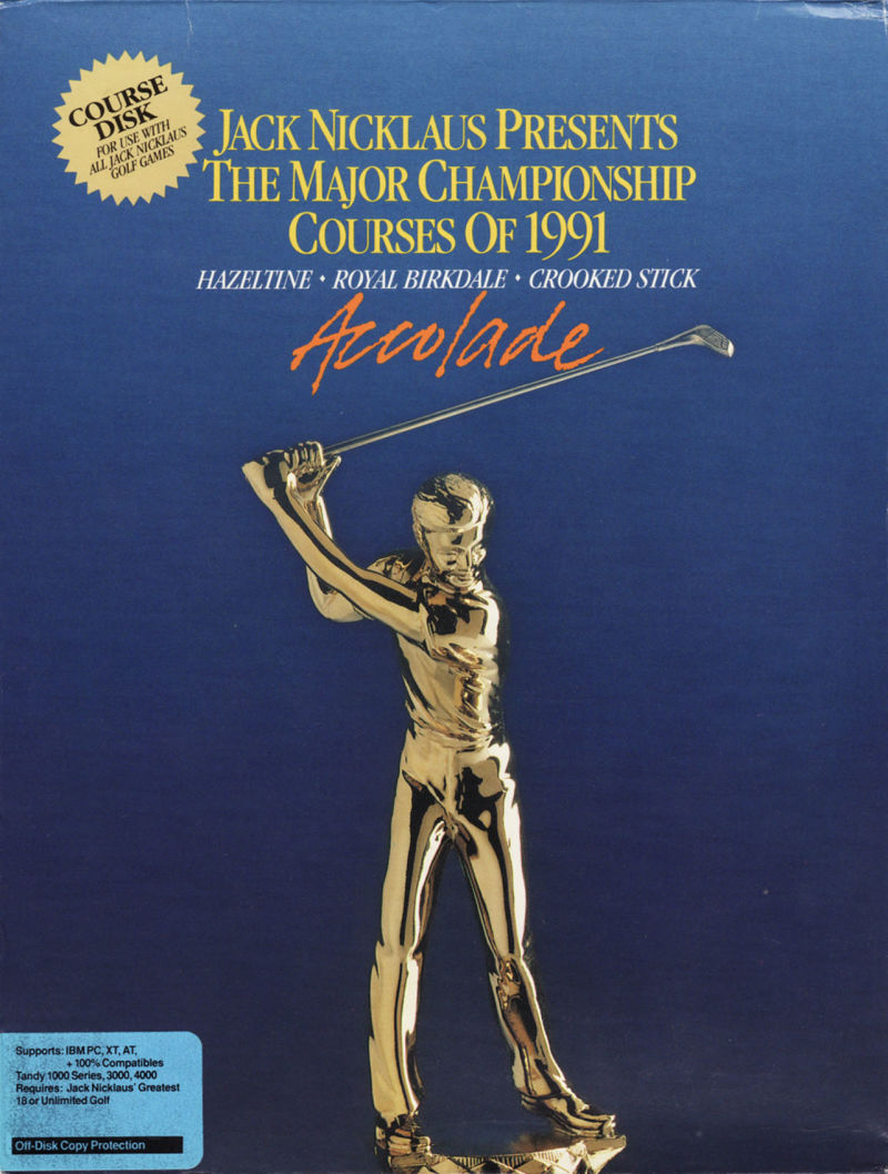 Jack Nicklaus presents The Major Championship Courses of 1991 DOS Front Cover