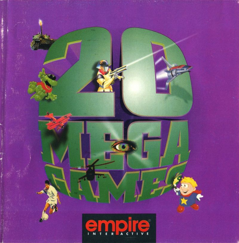 20 Mega Games DOS Front Cover also Manual - Front