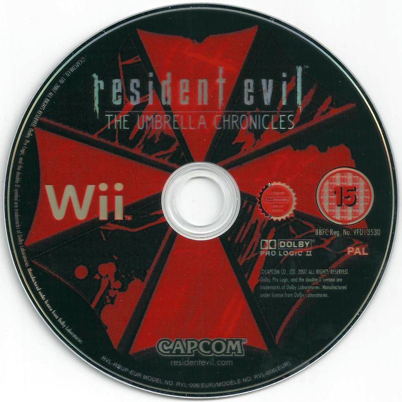 Resident Evil: The Umbrella Chronicles Wii Media