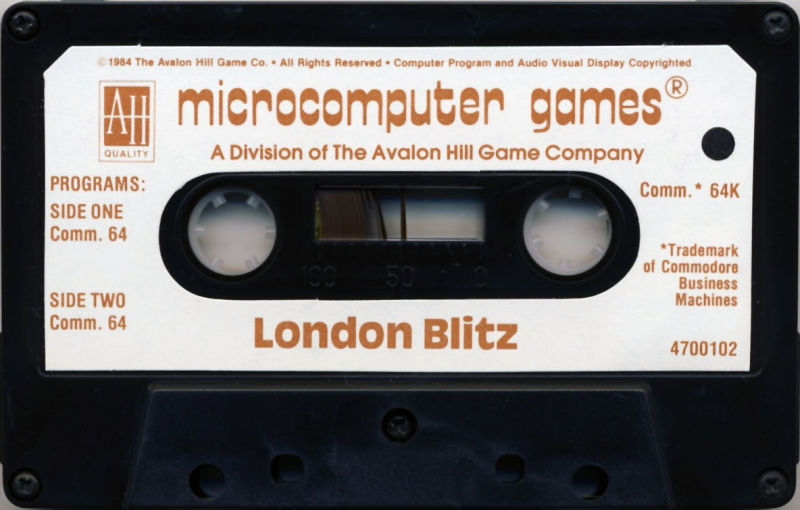 London Blitz Commodore 64 Media