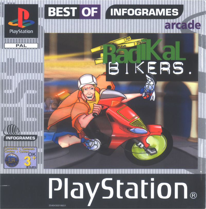 Radikal Bikers PlayStation Front Cover