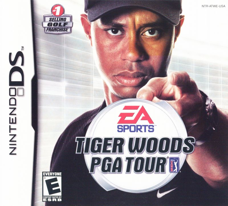 Tiger Woods PGA Tour Nintendo DS Front Cover