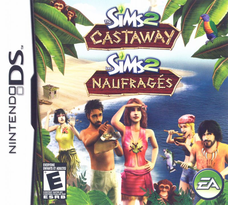 The Sims 2: Castaway Nintendo DS Front Cover