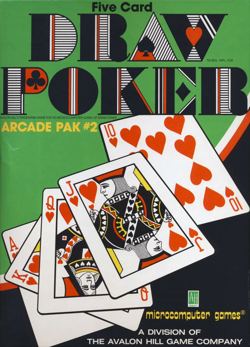 Draw Poker 1982 Apple Ii Box Cover Art Mobygames