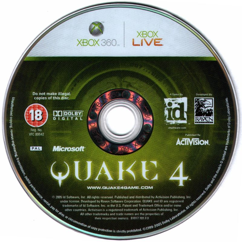 Quake 4 Xbox 360 Media Game Disc