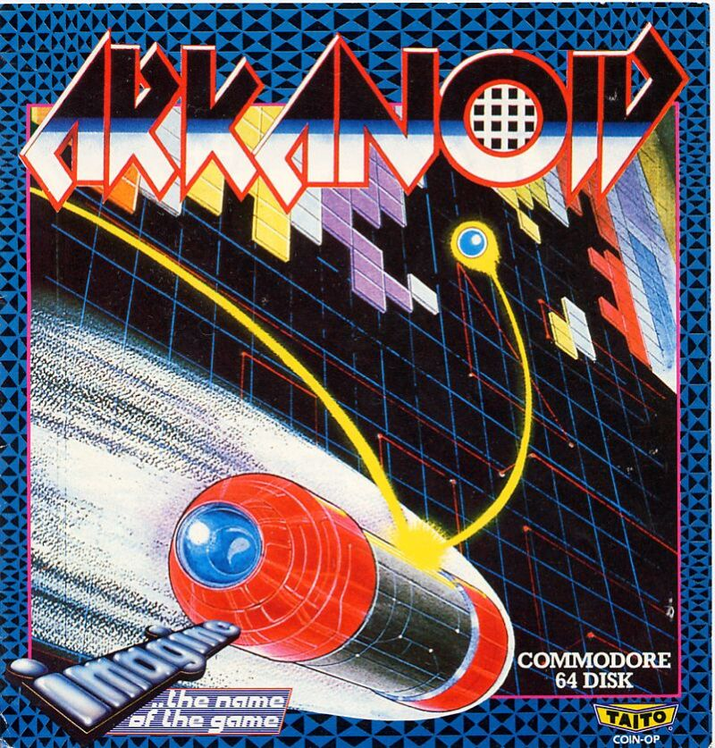 Arkanoid Commodore 64 Front Cover