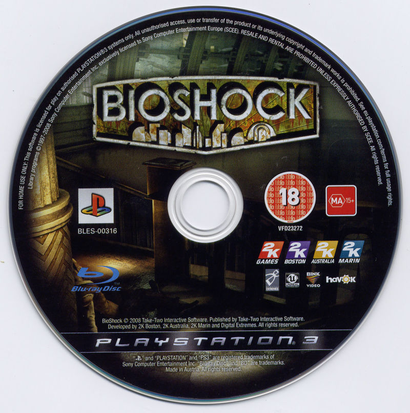 BioShock PlayStation 3 Media