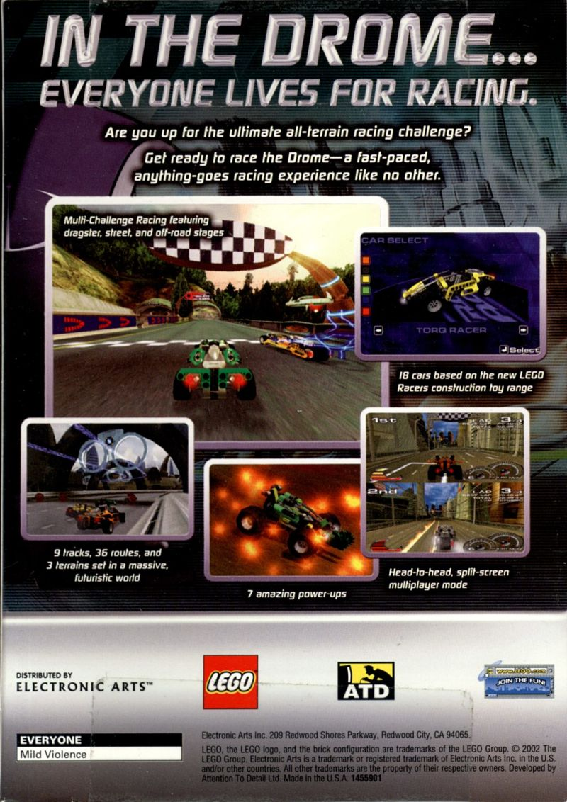 Drome Racers Windows Back Cover