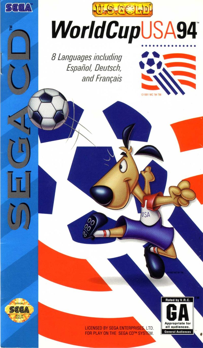 World Cup USA 94 SEGA CD Front Cover