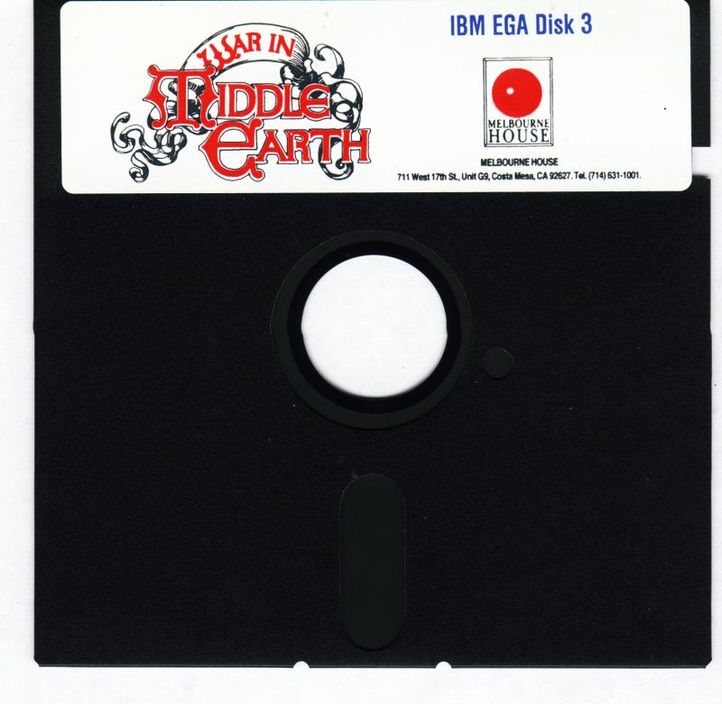 J.R.R. Tolkien's War in Middle Earth DOS Media Disk 3