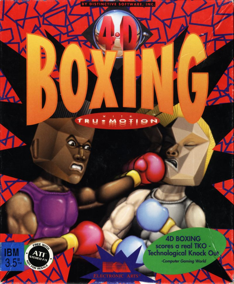 4-D Boxing DOS Front Cover