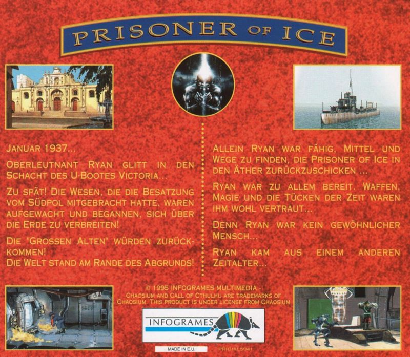 Prisoner of Ice DOS Other Jewel Case - Back