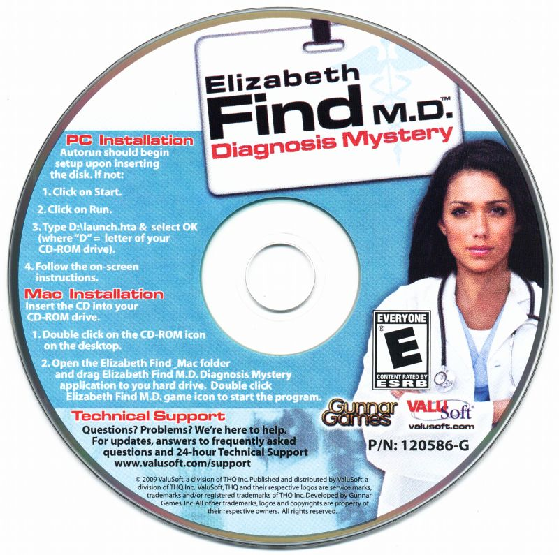 Elizabeth Find M.D.: Diagnosis Mystery Macintosh Media