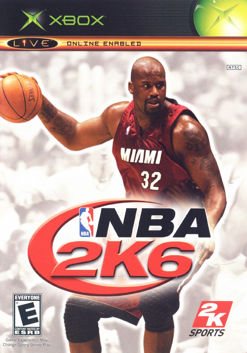 NBA 2K6 Xbox Front Cover