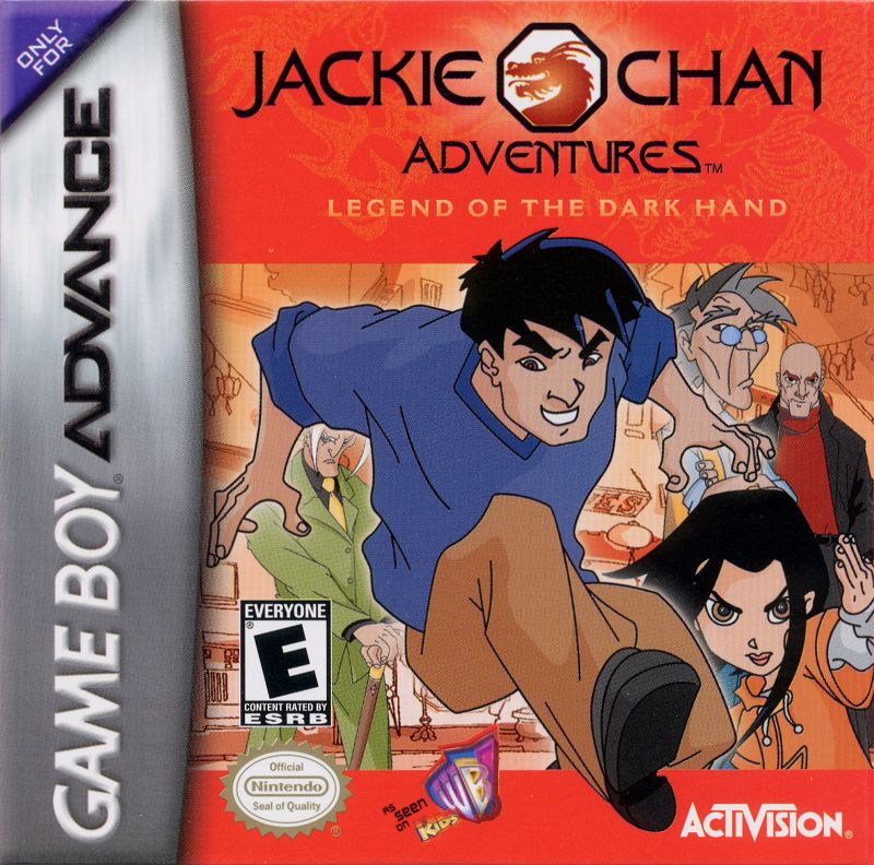 Jackie Chan Adventures: Legend of the Dark Hand Game Boy Advance Front Cover
