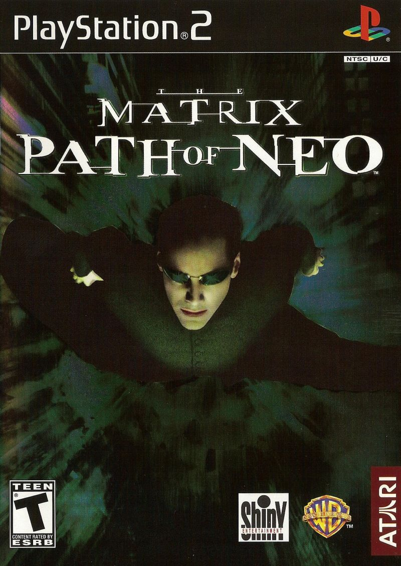 The Matrix: Path of Neo PlayStation 2 Front Cover