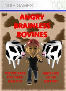 Angry Brainless Bovines Xbox 360 Front Cover