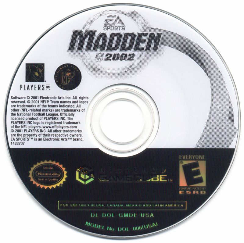 Madden NFL 2002 GameCube Media