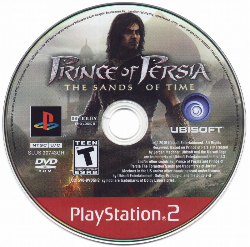 Prince of Persia: The Sands of Time PlayStation 2 Media