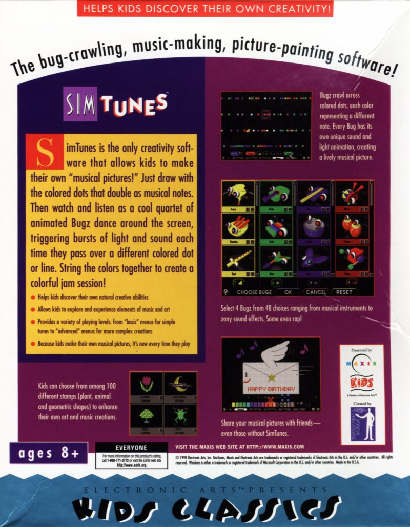 SimTunes Windows Back Cover