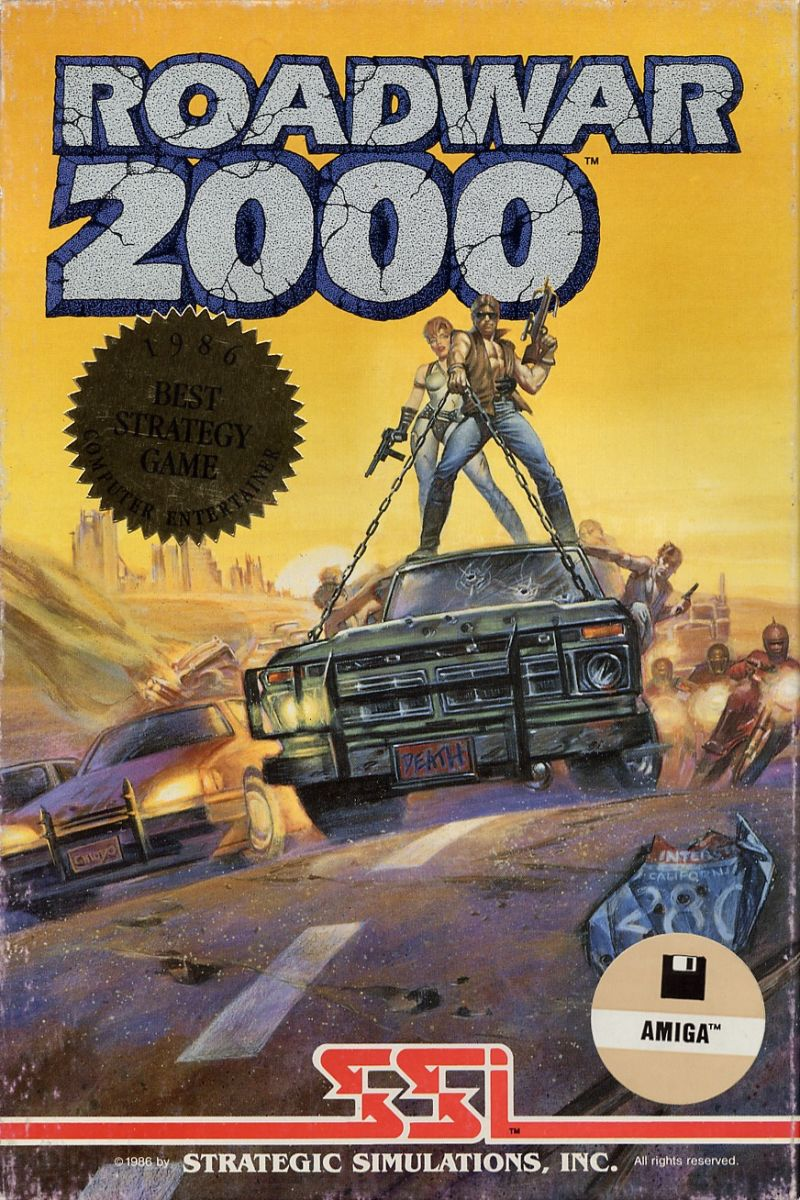 Roadwar 2000 Amiga Front Cover