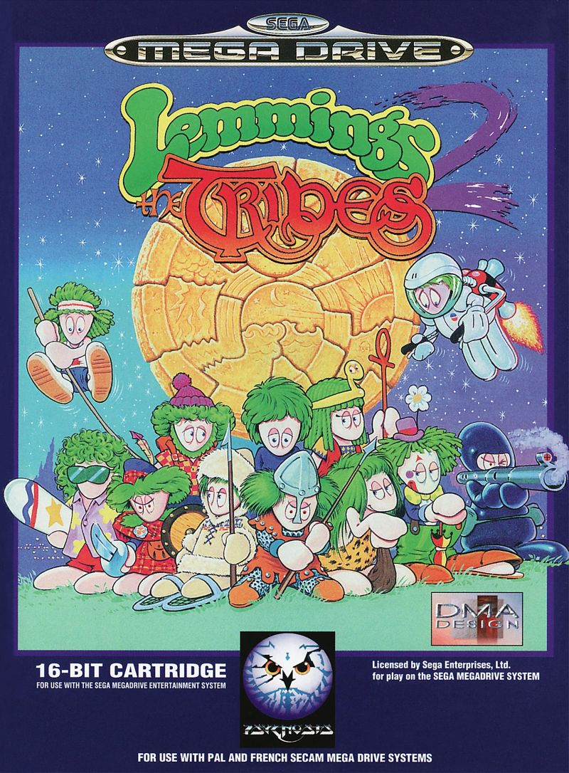 Lemmings 2: The Tribes Genesis Front Cover