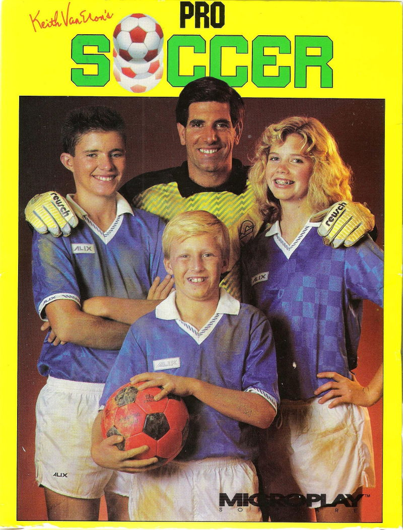Keith Van Eron's Pro Soccer DOS Front Cover