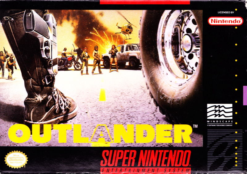 Outlander SNES Front Cover