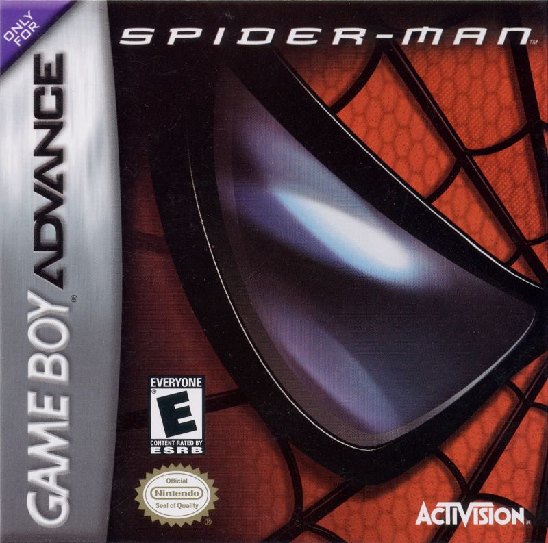 Spider-Man Game Boy Advance Front Cover