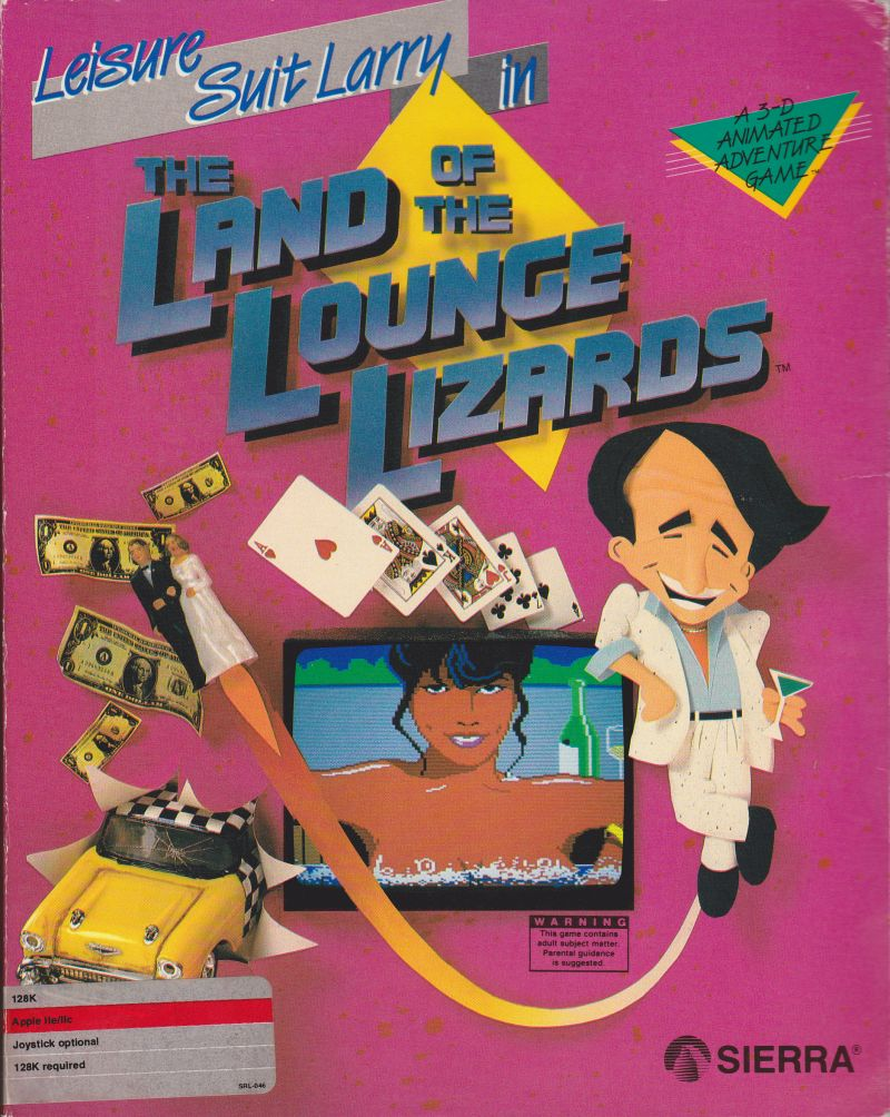 Leisure Suit Larry in the Land of the Lounge Lizards Apple II Front Cover