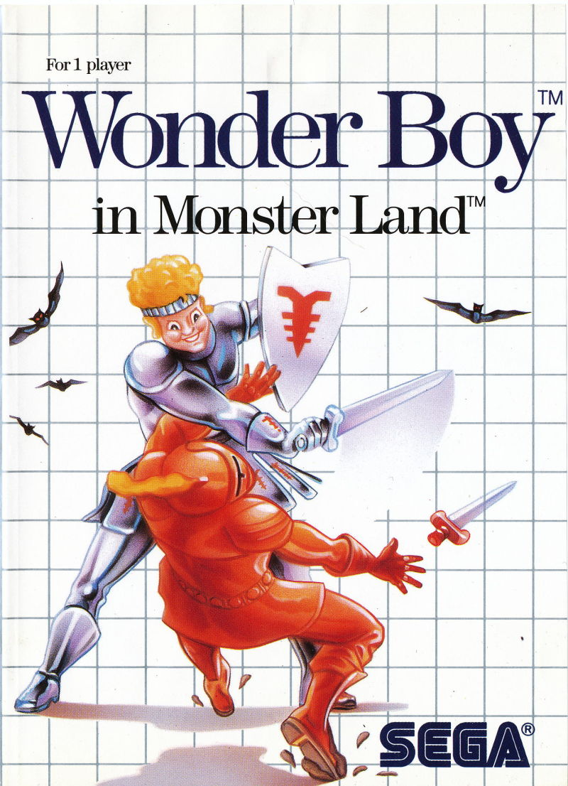 Wonder Boy in Monster Land SEGA Master System Front Cover