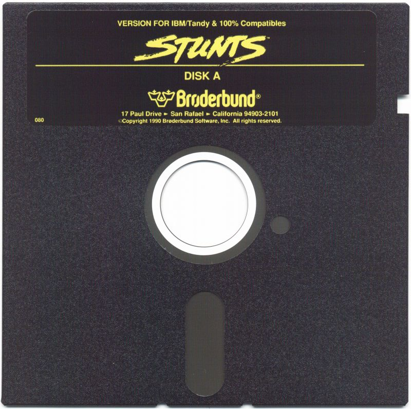 "Stunts DOS Media 5.25"" Disk 1/4"