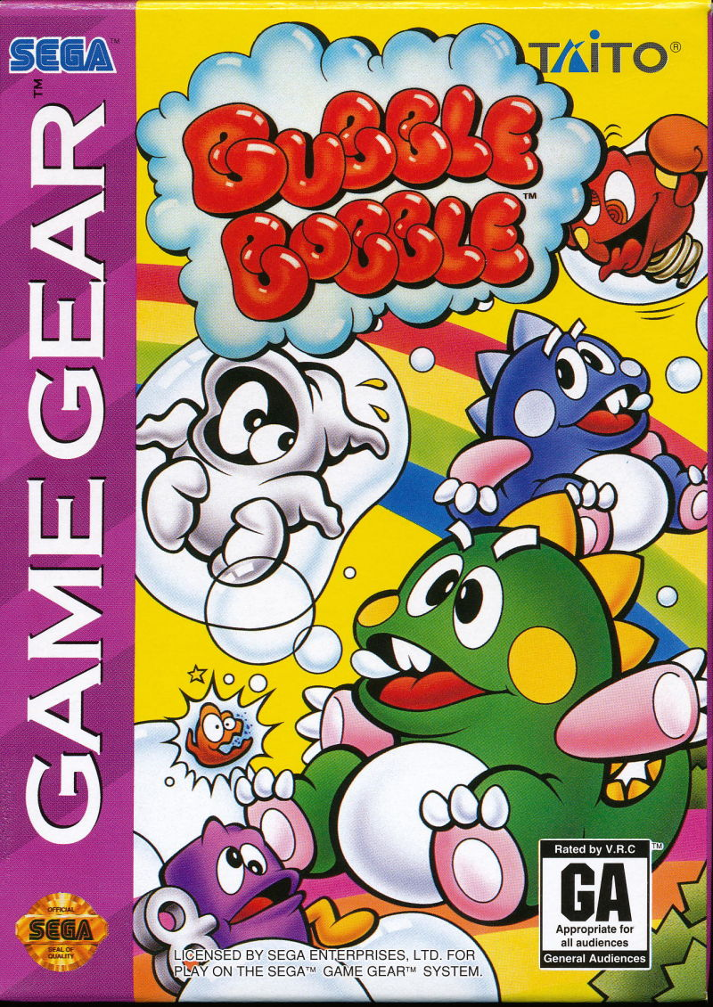 Bubble Bobble Game Gear Front Cover