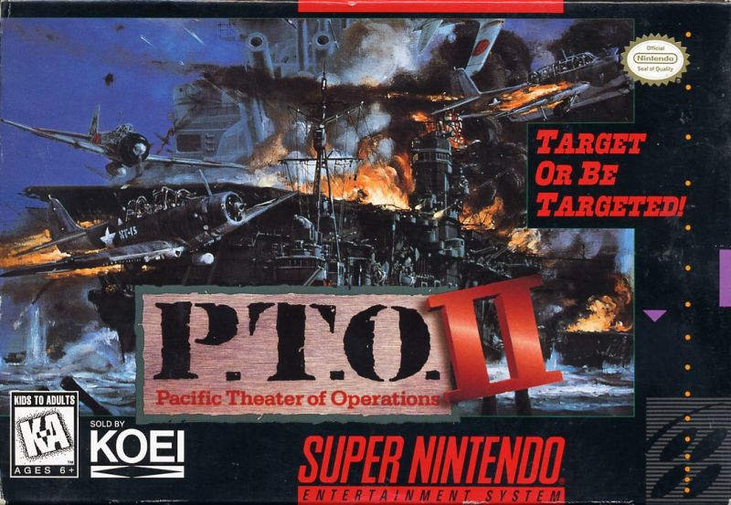 P.T.O.: Pacific Theater of Operations II SNES Front Cover