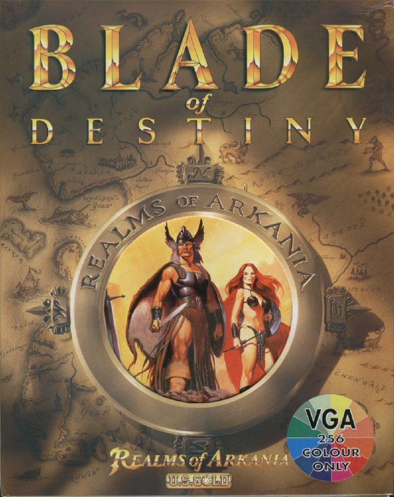Realms of Arkania: Blade of Destiny DOS Front Cover