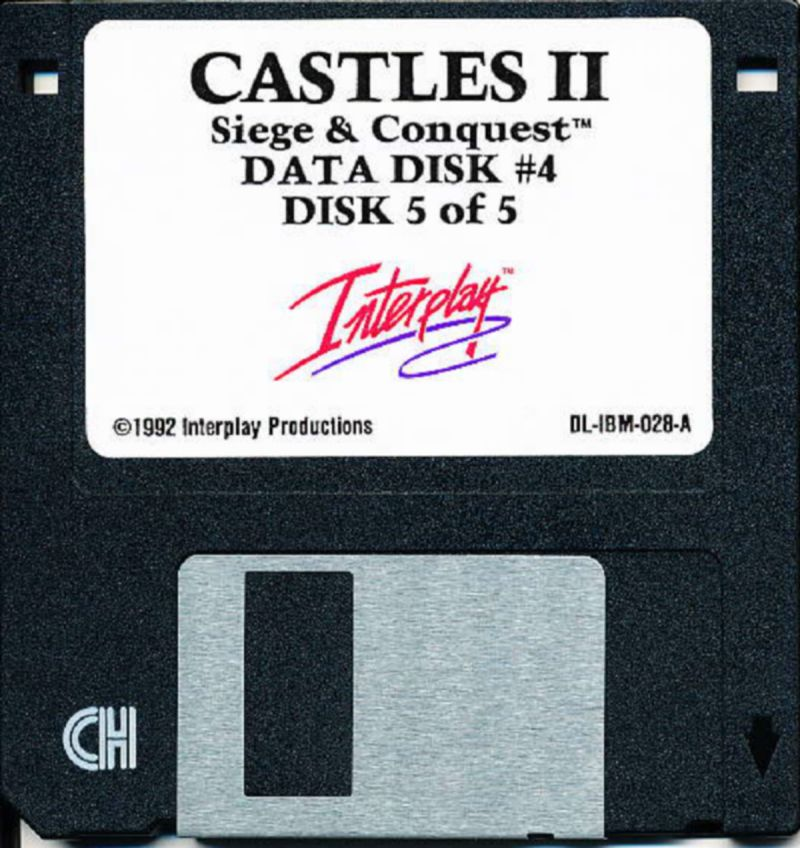 Castles II: Siege & Conquest DOS Media Data Disk 4/4