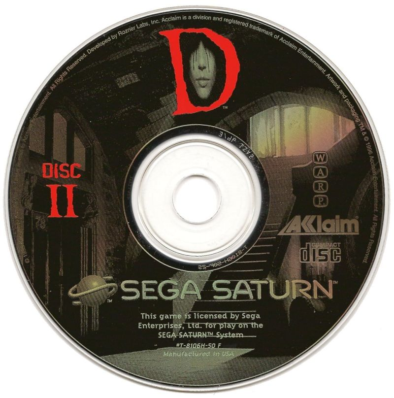 D SEGA Saturn Media Disc 2/2