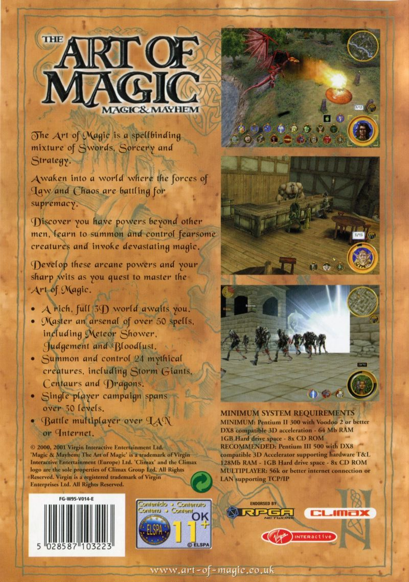 Magic & Mayhem: The Art of Magic Windows Back Cover