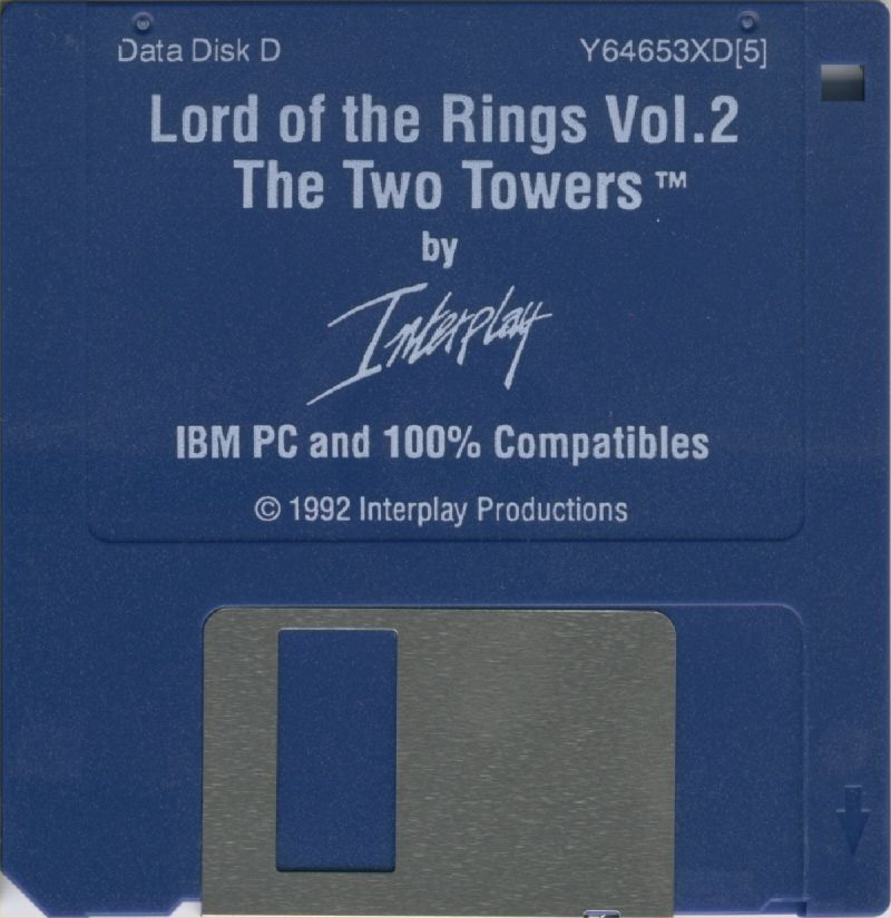 J.R.R. Tolkien's The Lord of the Rings, Vol. II: The Two Towers DOS Media Data Disk D