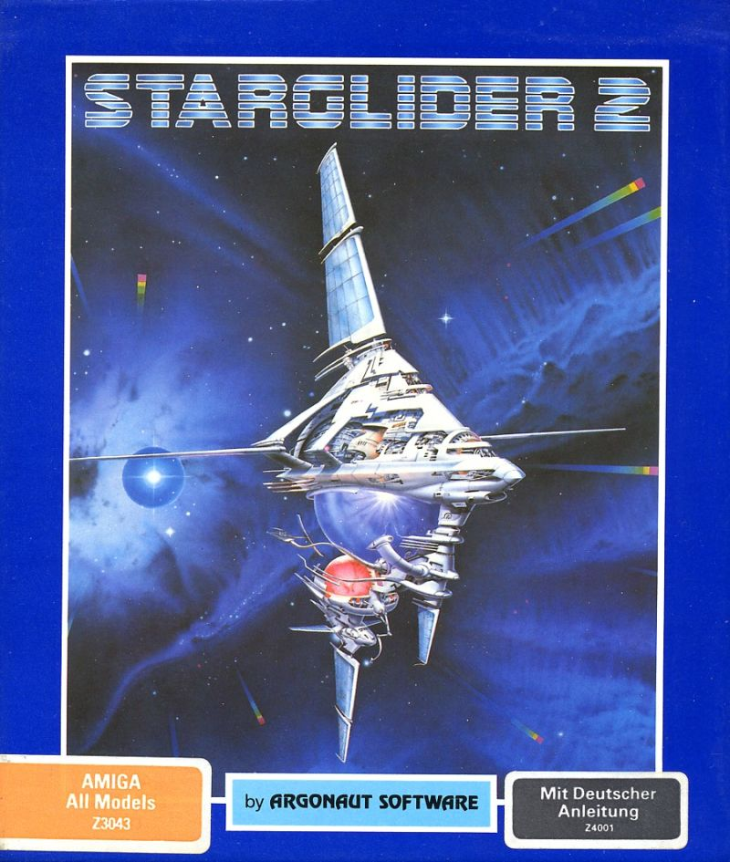 Starglider 2 Amiga Front Cover