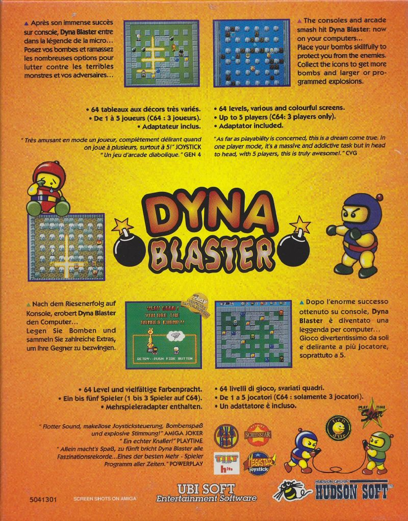 Bomberman DOS Back Cover