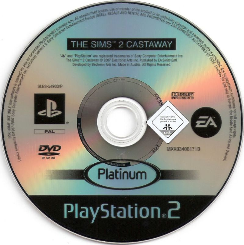 The Sims 2: Castaway PlayStation 2 Media