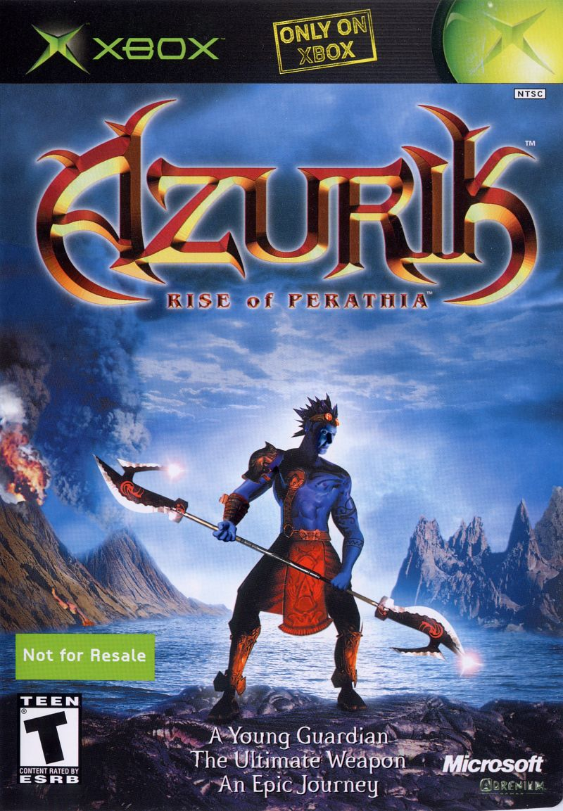 Book Cover Pictures Xbox : Azurik rise of perathia xbox box cover art mobygames