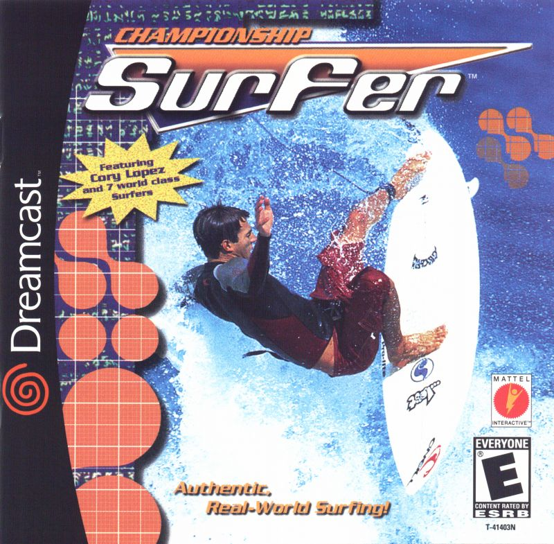 Championship Surfer Dreamcast Front Cover