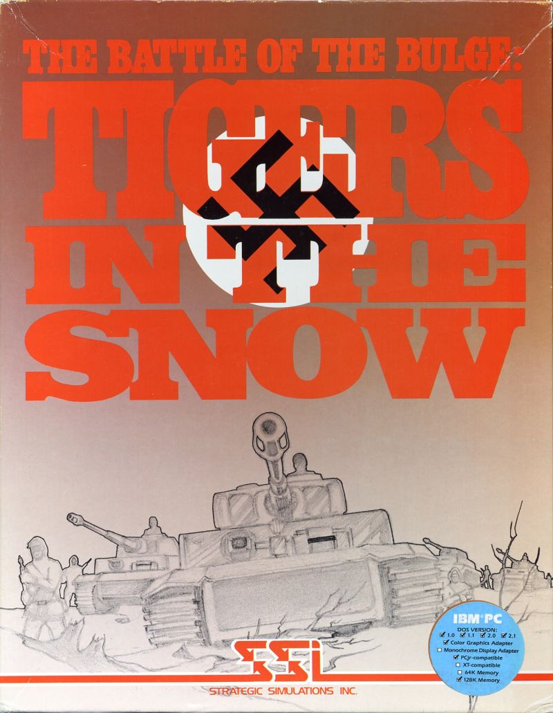 The Battle of the Bulge: Tigers in the Snow DOS Front Cover